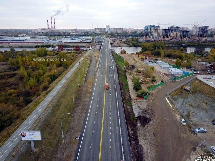 В г.Тюмени открылся новый мост через р.Туру поул.Мельникайте