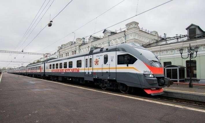 Новый поезд «Кремлевские курсанты» пущен наРижском направлении МЖД
