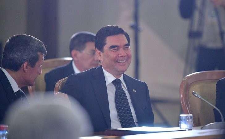 Президент Туркменистана Гурбангулы Бердымухамедов назаседании Совета глав государств СНГ врасширенном составе.