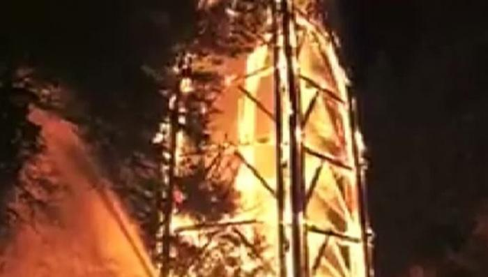 Германия: знаменитая башня Гете сгорела во Франкфурте на Майне