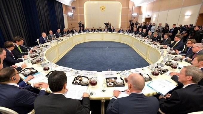 Владимир Путин встретился с представителями деловых кругов Германии