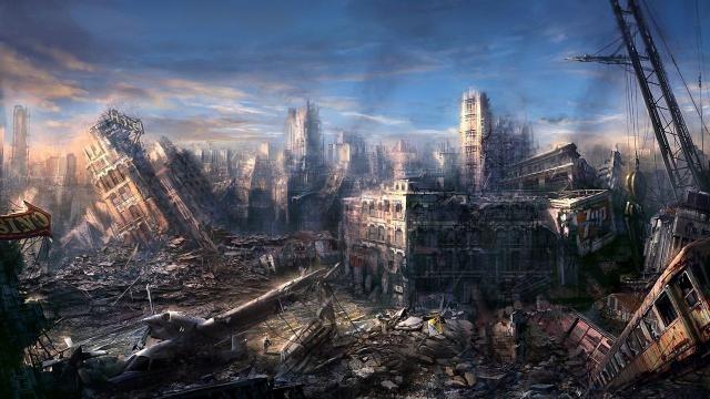 Калифорния: руины города по которым уже не развозят почту, кадры с беспилотника
