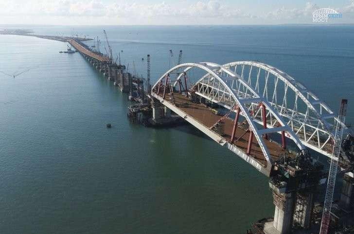 керченский мост автомобильная и железнодорожная арки
