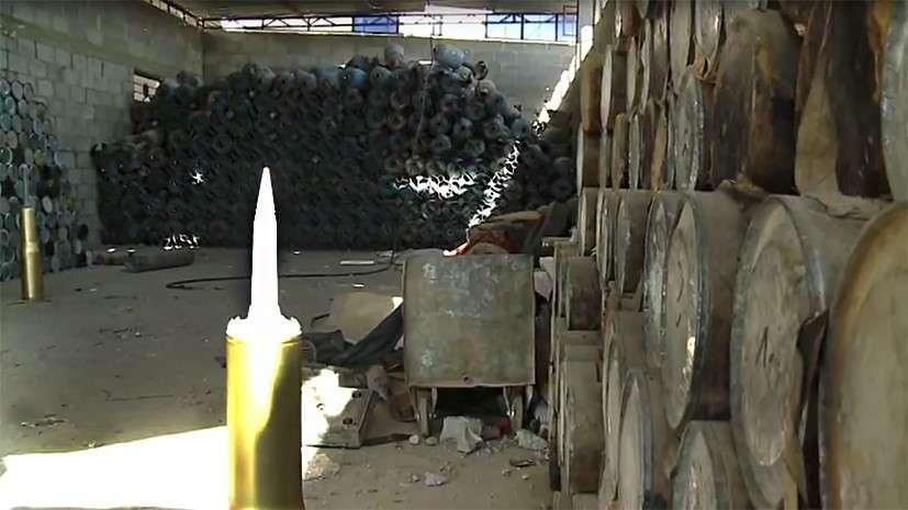 Сирия: в освобождённом Аль-Маядине обнаружены огромные склады с оружием