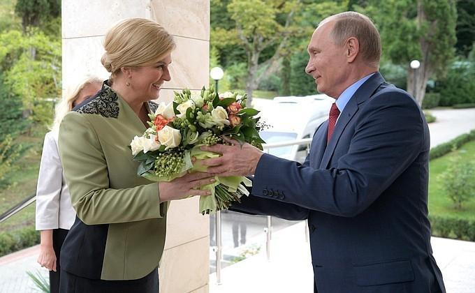 Владимир Путин провёл переговоры с Президентом Республики Хорватии