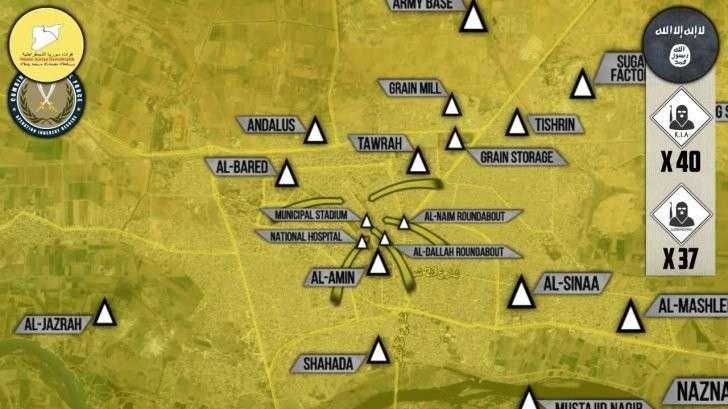 Сирия: Курды «освободили» столицу ИГИЛ, предварительно выпустив наёмников США из города
