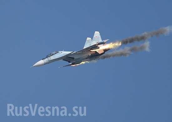 Су-30СМ точным попаданием утопил военный корабль