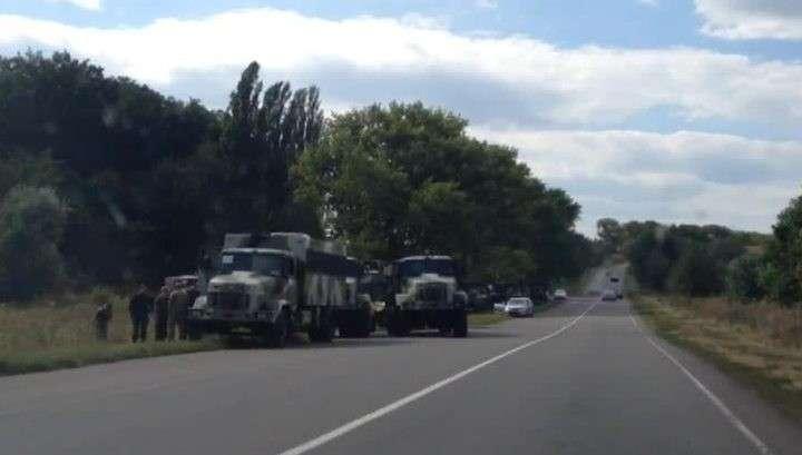 К резиденции Порошенко под Киевом пригнали военную технику