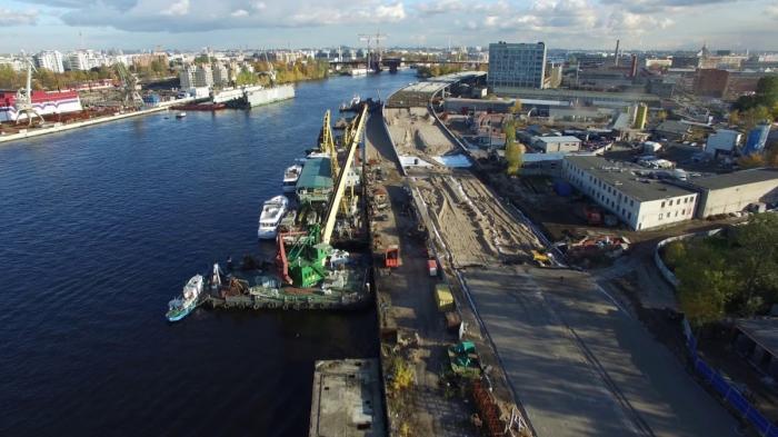 Петербург: строительство набережной Макарова (от ЗСД до острова Серный) октябрь 2017