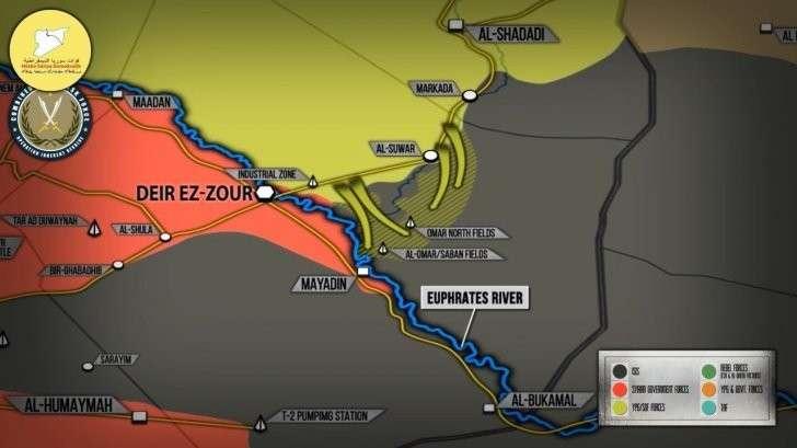 Сирия: Курды «сдают» наёмникам США из ИГИЛ территорию страны