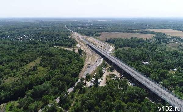 Волгоград сверху— строительство моста через Ахтубу