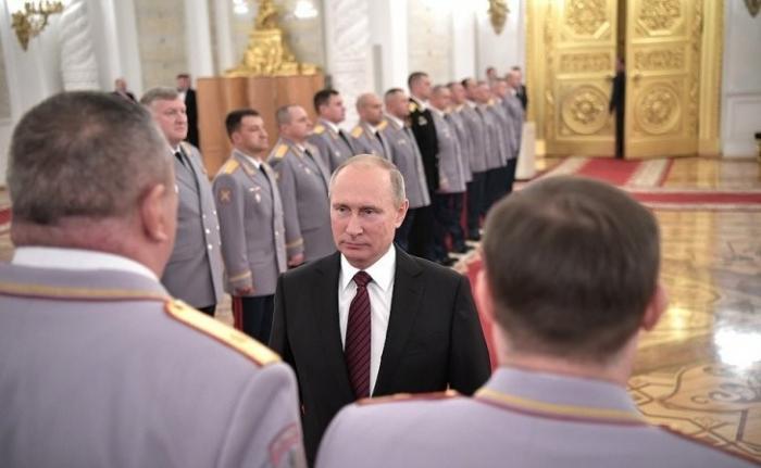 В Кремле состоялась церемония представления офицеров, назначенных на высшие должности