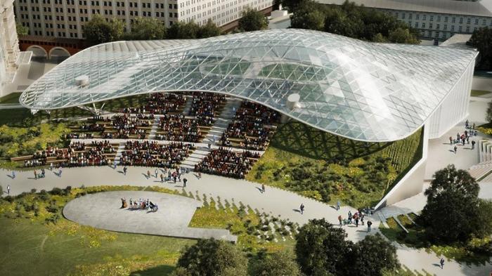 Парк «Зарядье» и строящаяся в нём филармония вызвали восхищение в ЮНЕСКО