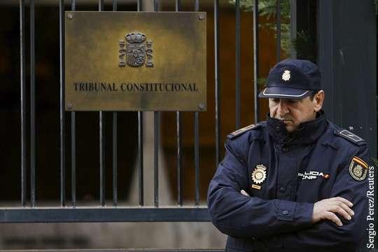 Конституционный суд Испании дал Каталонии три дня на отмену решения о независимости