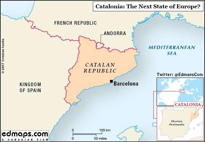 Каталония: спуск флагов Испании начался