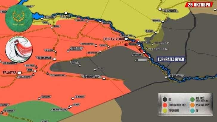 23-29 октября. Военная обстановка в Сирии и Ираке. Обзор событий за неделю