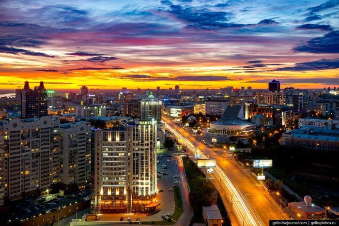 Новосибирск 2017: красота с высоты птичьего полёта