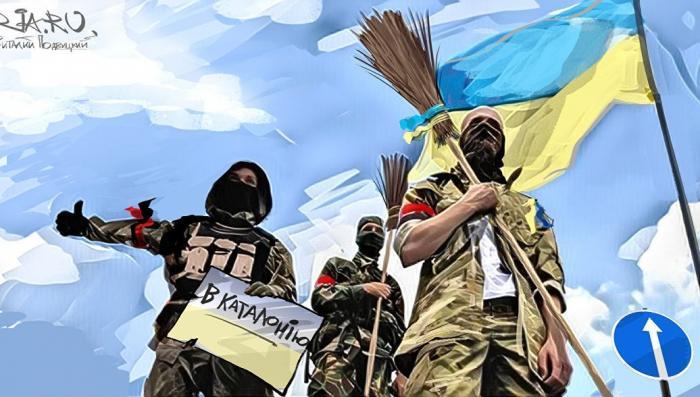 Украина экспортирует киборгов в Каталонию. Фельетон-боевик