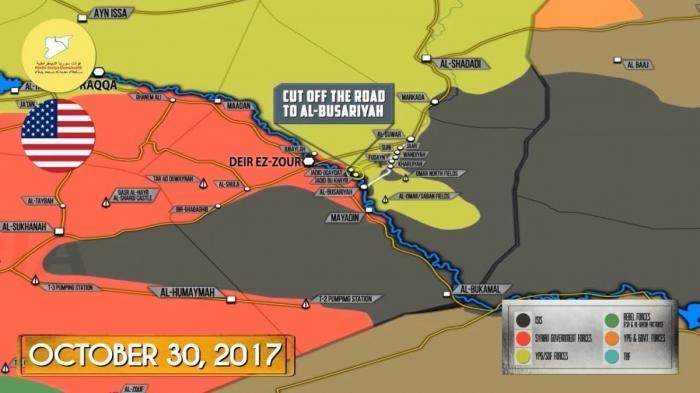Сирия: США блокировали переправу Евфрата правительственной армии