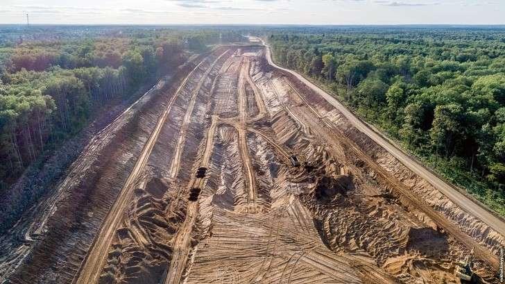 Москва: строительство северного участка Центральной кольцевой автодороги (ЦКАД)