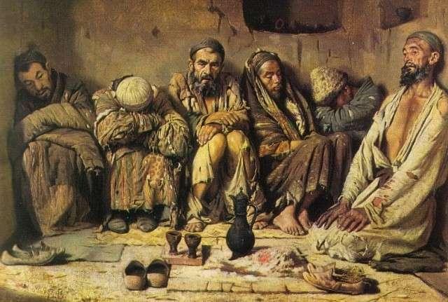 Василий Верещагин. Опиумоеды (фрагмент). 1868