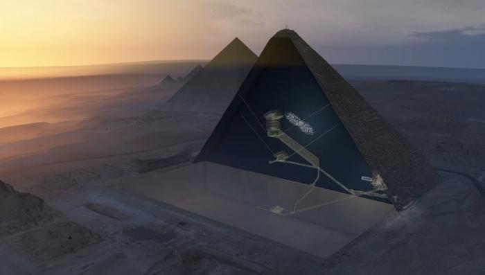 Египет: исследователи обнаружили внутри пирамиды Хеопса потайную комнату