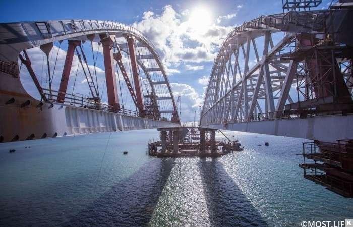 Крымский мост. 2 ноября. Прогулка по триумфальным аркам моста