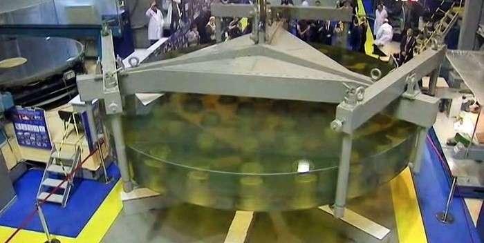 ОАО«ЛЗОС» передало Российской академии наук главное зеркало телескопа БТА