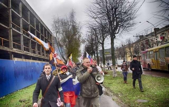 Русский марш проходит в Москве в двух местах