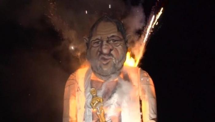 Еврея Вайнштейна «сожгли» на праздник в Шотландии