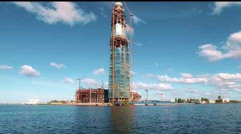 Строители «Лахта центра» опубликовали видео об уникальном фасаде небоскрёба