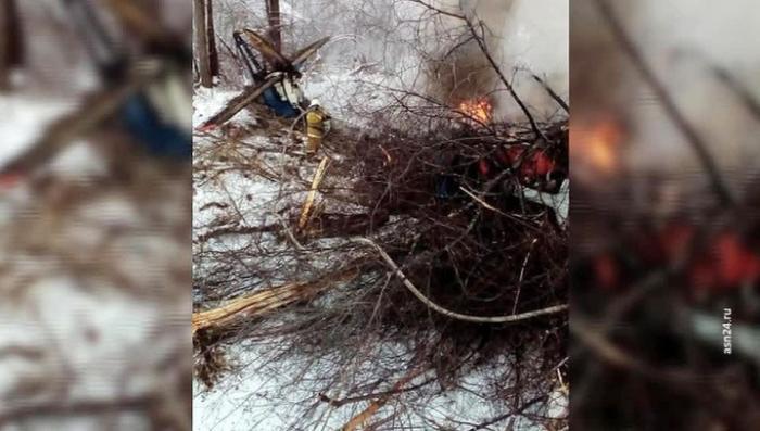 Приамурье: разбился самолет Ан-2. Кадры с места катастрофы