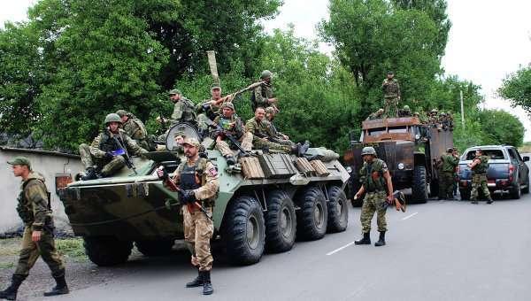 Ополченцы Донецкой народной республики (ДНР) в Иловайске. Архивное фото