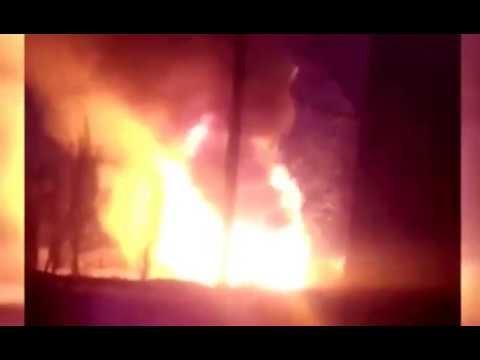 Видео взрыва складов в Опытном. Прощайте боеприпасы карателей!