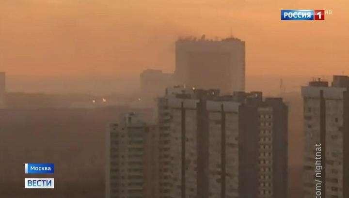 На юге Москвы горят подземные помещения одного из зданий Службы внешней разведки