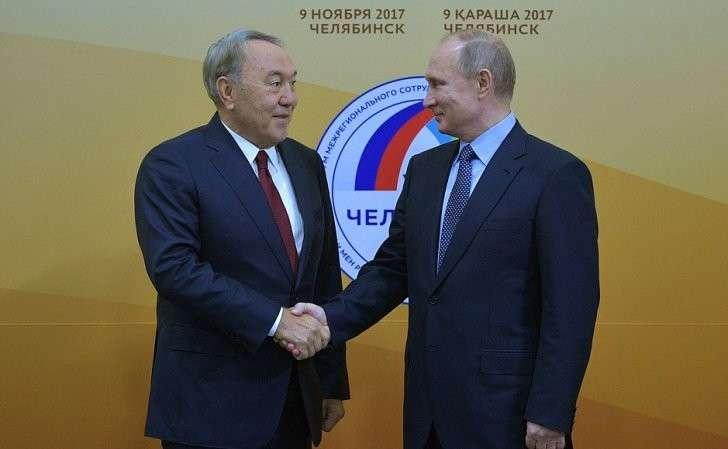 СПрезидентом Республики Казахстан Нурсултаном Назарбаевым.