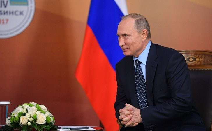 Входе встречи сПрезидентом Республики Казахстан Нурсултаном Назарбаевым.
