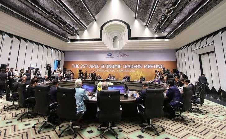 Назаседании 25-го саммита форума «Азиатско-тихоокеанское экономическое сотрудничество».