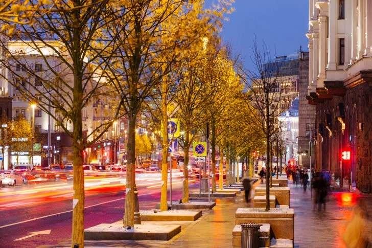 Тверская улица, 2017 г., после завершения второго этапа программы «Моя улица».  Фото: пресс-служба Правительства Москвы