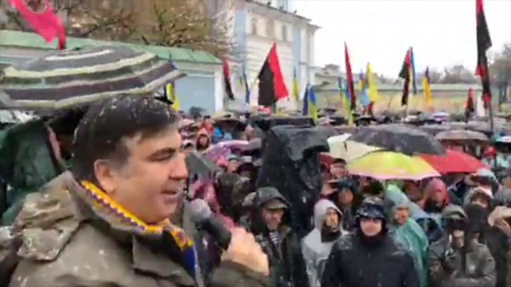 Киев: бомж Саакашвили и его сторонники собрались на вече