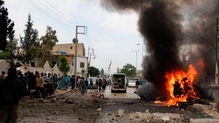 Сирия: коалиция бандитов во главе с США ракетным ударом уничтожила машину скорой помощи