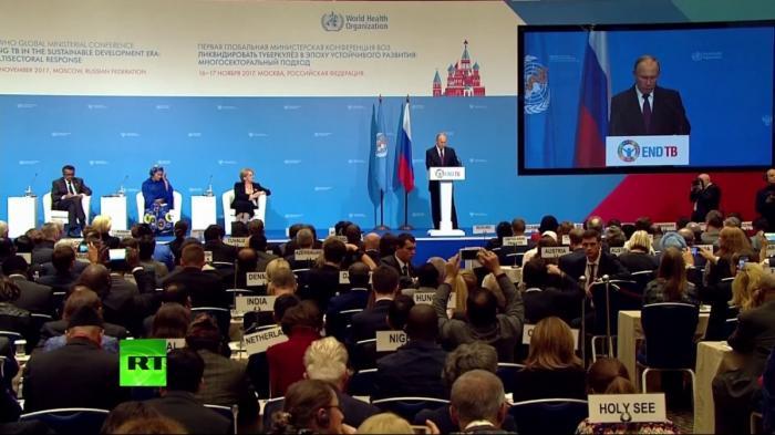 Выступление Владимира Путина на открытии конференции ВОЗ: борьба с туберкулёзом