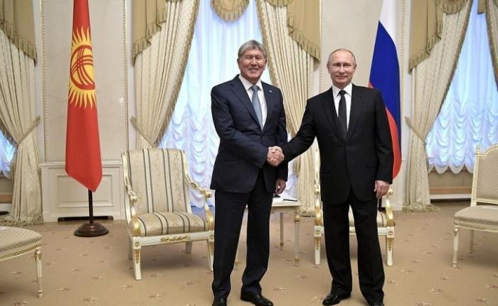 Встреча Владимира Путина с Президентом Киргизской Республики Алмазбеком Атамбаевым