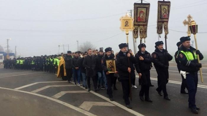 В Краснодаре церковная братва решила попиарится с помощью сотрудников ГИБДД