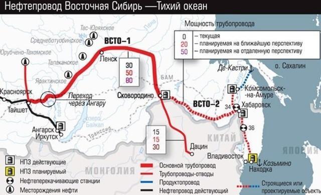 Завершена прокладка второго нефтепровода изРоссии вКитай «Мохэ – Дацин»