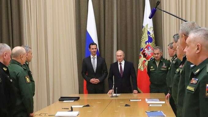 Встреча сруководящим составом Министерства обороны иГенерального штаба Вооружённых Сил РФ