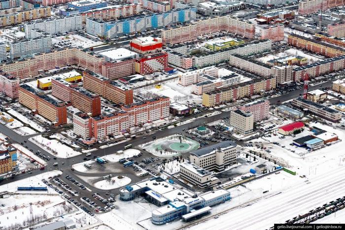 Новый Уренгой – газовая столица России свысоты птичьего полёта