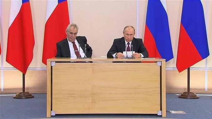 Владимир Путин и Милош Земан сделали заявления поитогам российско-чешских переговоров