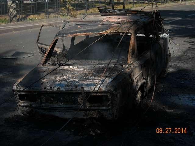 Обстрел Калининского района г. Донецка, фото