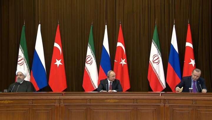 Заявление для прессы по итогам переговоров президентов России, Турции и Ирана